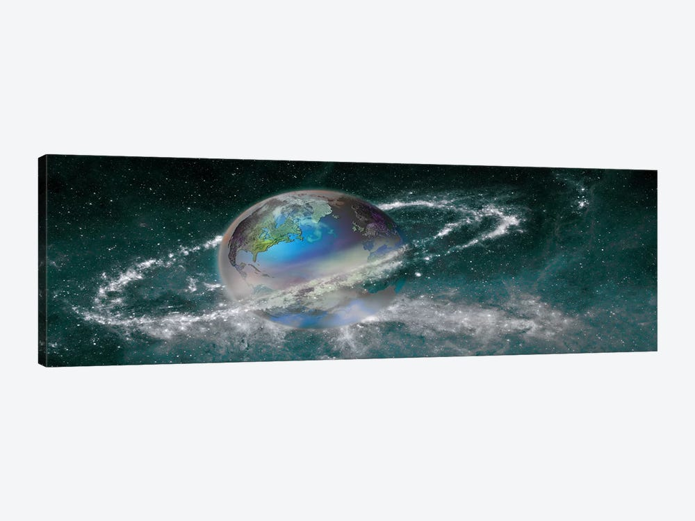 Earth in star field by Panoramic Images 1-piece Canvas Wall Art