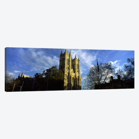 Low angle view of an abbey, Westminster Abbey, City of Westminster, London, England Canvas Print #PIM10068} by Panoramic Images Canvas Wall Art