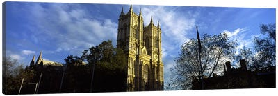 Low angle view of an abbey, Westminster Abbey, City of Westminster, London, England Canvas Print #PIM10068