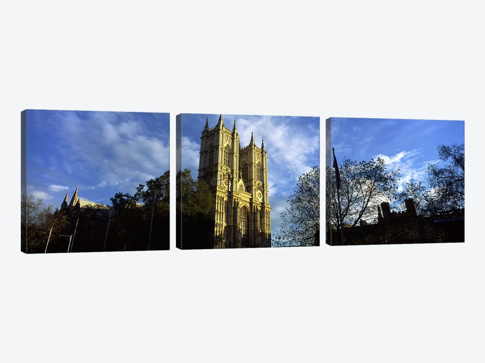 Low angle view of an abbey, Westminster Abbey, City of Westminster, London, England by Panoramic Images 3-piece Canvas Artwork