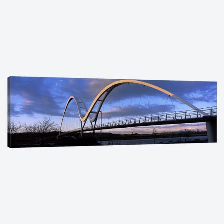 Modern bridge over a riverInfinity Bridge, River Tees, Stockton-On-Tees, Cleveland, England Canvas Print #PIM10079} by Panoramic Images Canvas Art Print