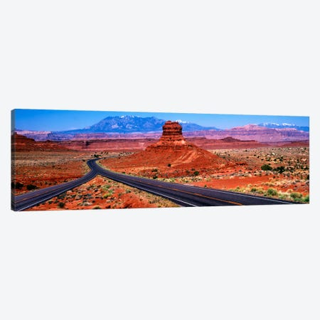 Fork In The Road, Red Rock Country, Utah, USA Canvas Print #PIM1007} by Panoramic Images Canvas Art