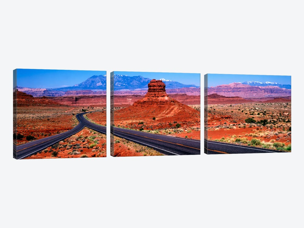Fork In The Road, Red Rock Country, Utah, USA by Panoramic Images 3-piece Art Print
