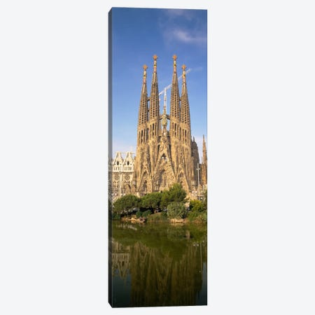 Low Angle View Of A Cathedral, Sagrada Familia, Barcelona, Spain Canvas Print #PIM1008} by Panoramic Images Art Print