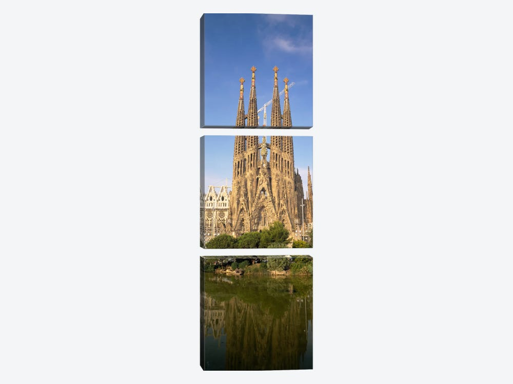 Low Angle View Of A Cathedral, Sagrada Familia, Barcelona, Spain by Panoramic Images 3-piece Canvas Art