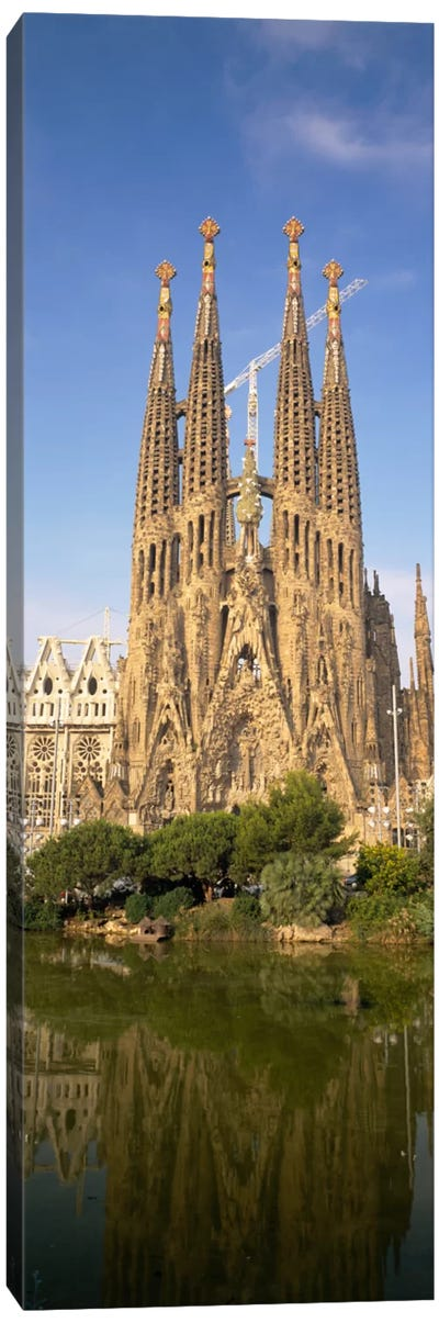 Low Angle View Of A Cathedral, Sagrada Familia, Barcelona, Spain Canvas Art Print