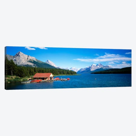 Canada, Alberta, Maligne Lake Canvas Print #PIM100} by Panoramic Images Canvas Print