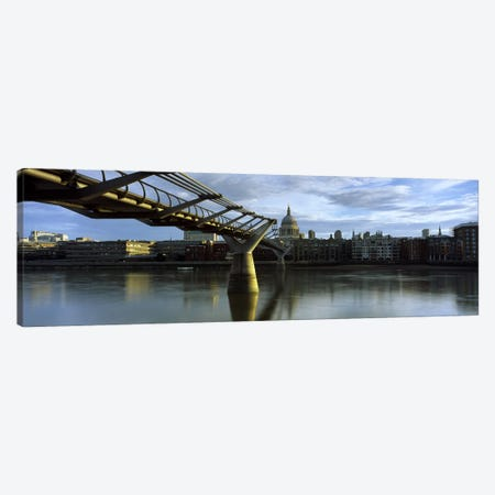 London Millennium Footbridge And St. Paul's Cathedral, London, England, United Kingdom Canvas Print #PIM10100} by Panoramic Images Canvas Print