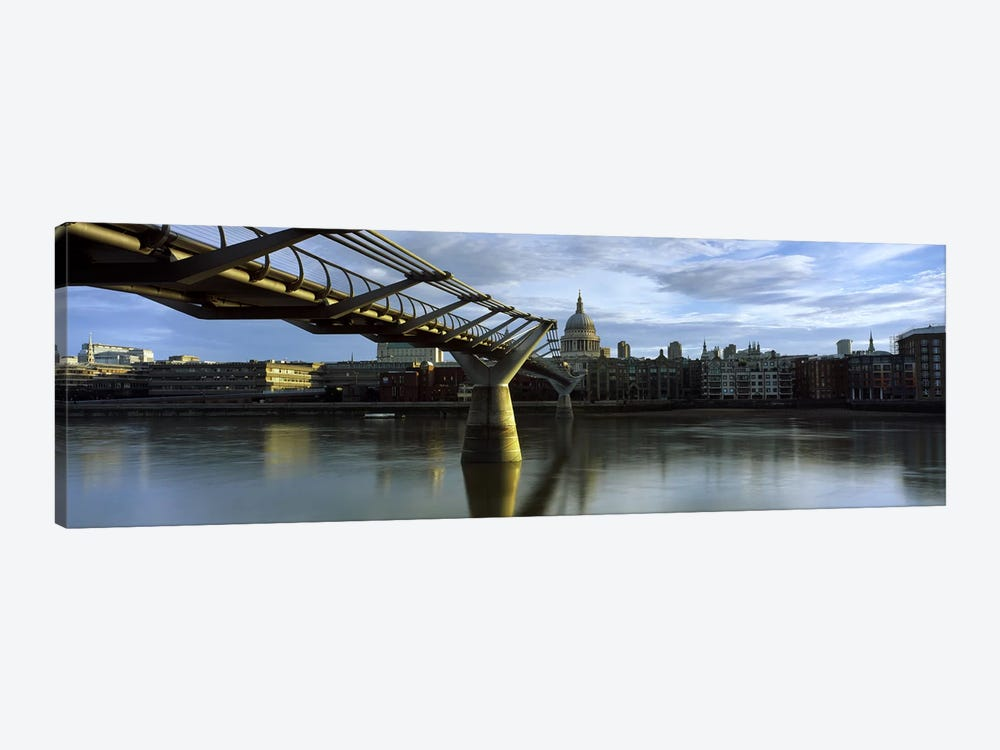London Millennium Footbridge And St. Paul's Cathedral, London, England, United Kingdom by Panoramic Images 1-piece Canvas Print