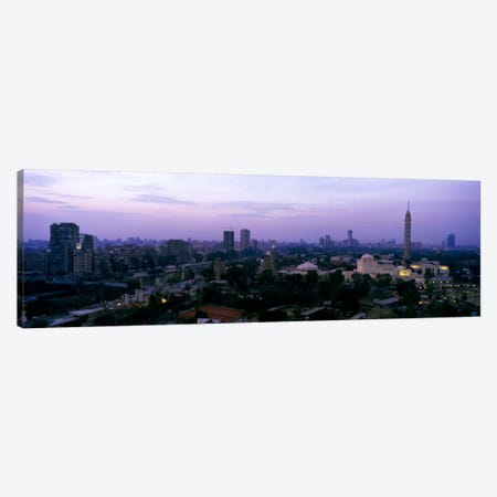 Dusk Cairo Gezira Island Egypt Canvas Print #PIM1010} by Panoramic Images Canvas Art