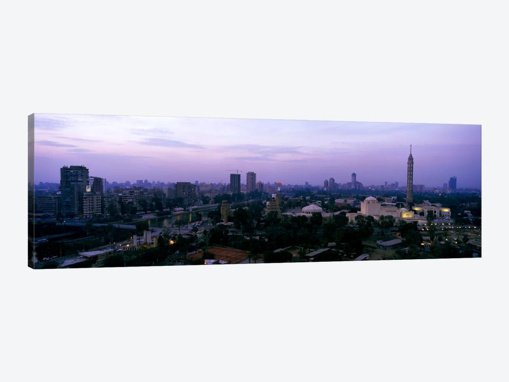 Dusk Cairo Gezira Island Egypt by Panoramic Images 1-piece Canvas Print