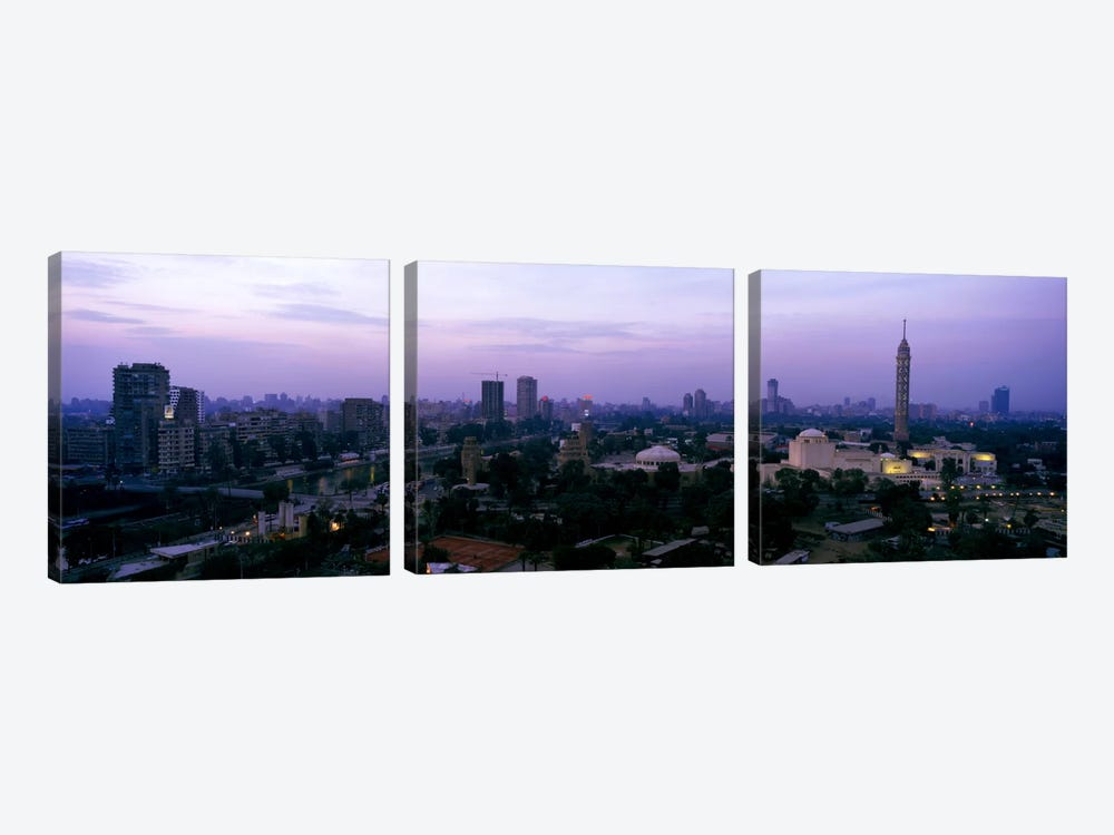 Dusk Cairo Gezira Island Egypt by Panoramic Images 3-piece Canvas Print