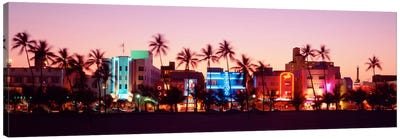 Night, Ocean Drive, Miami Beach, Florida, USA Canvas Art Print