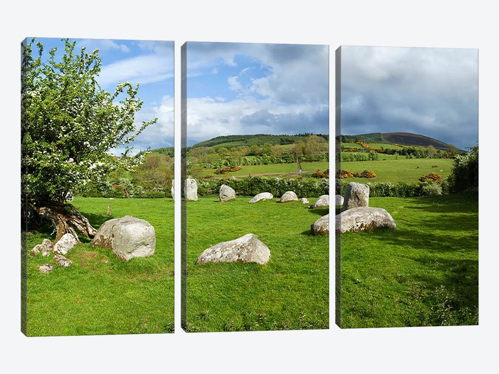 Piper's Stone, Bronze Age Stone Circle (1400-800 BC) of 14 Granite Boulders, Near Hollywood, County Wicklow, Ireland 3-piece Art Print