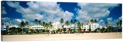 Hotels on the beach, Art Deco Hotels, Ocean Drive, Miami Beach, Florida, USA Canvas Print #PIM1013