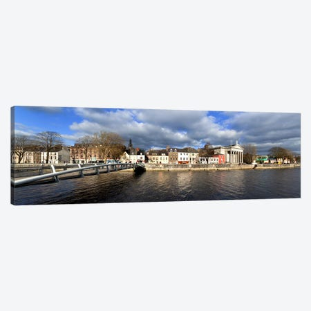 The Millenium Foot Bridge Over the River Lee,St Annes Church Behind, And St Mary's Church (right),Cork City, Ireland Canvas Print #PIM10140} by Panoramic Images Canvas Print