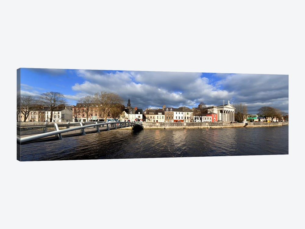 The Millenium Foot Bridge Over the River Lee,St Annes Church Behind, And St Mary's Church (right),Cork City, Ireland by Panoramic Images 1-piece Canvas Print