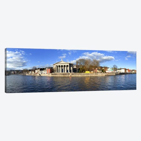 St Mary's Church beside the River LeeCork City, Ireland Canvas Print #PIM10141} by Panoramic Images Art Print