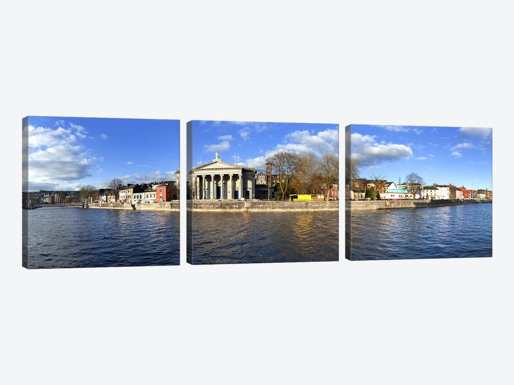 St Mary's Church beside the River LeeCork City, Ireland by Panoramic Images 3-piece Canvas Art
