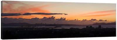 City view at duskEmeryville, Oakland, San Francisco Bay, San Francisco, California, USA Canvas Print #PIM10146