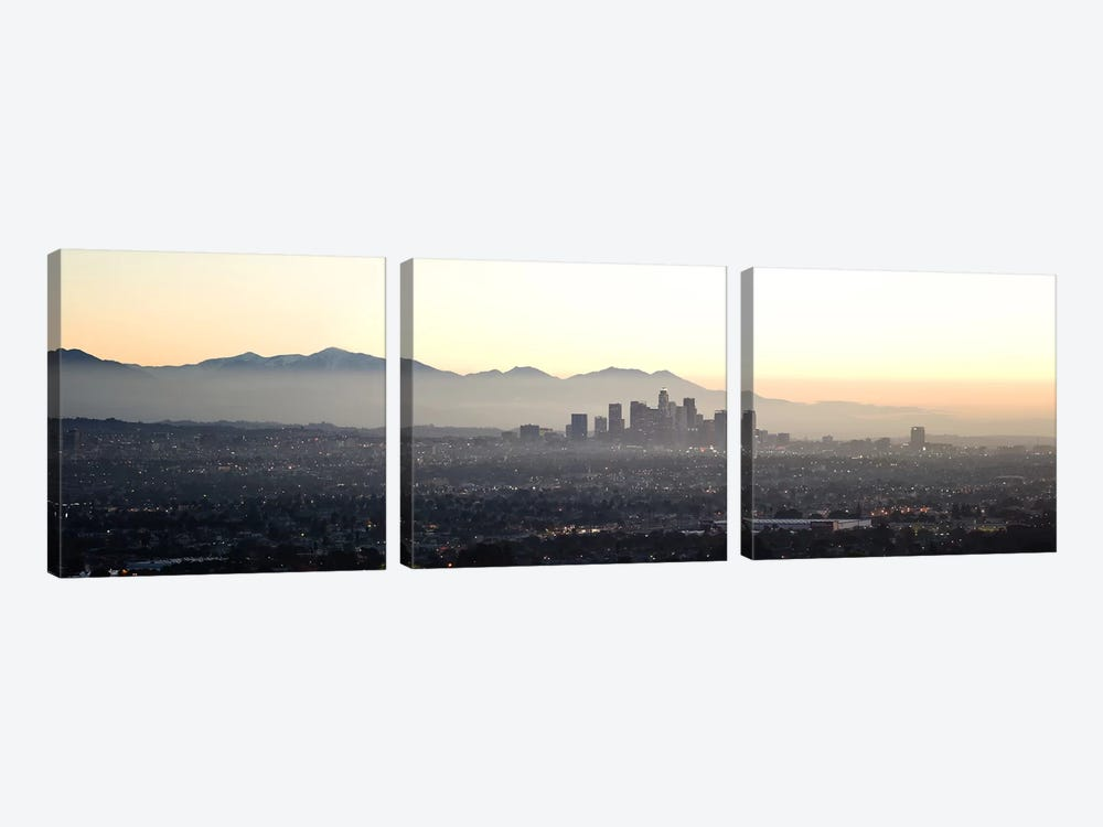 Aerial view of a cityscape, Los Angeles, California, USA by Panoramic Images 3-piece Canvas Art