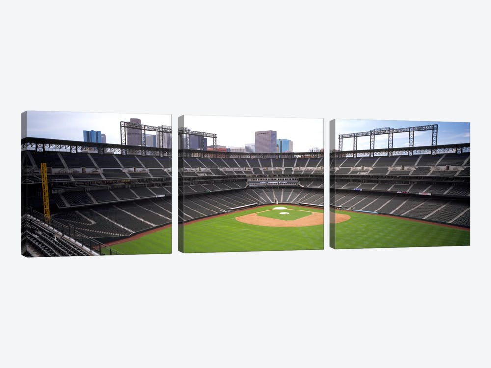 Coors Field Denver CO by Panoramic Images 3-piece Canvas Art Print