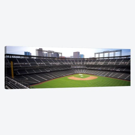 Coors Field Denver CO 3-Piece Canvas #PIM1014} by Panoramic Images Canvas Art Print