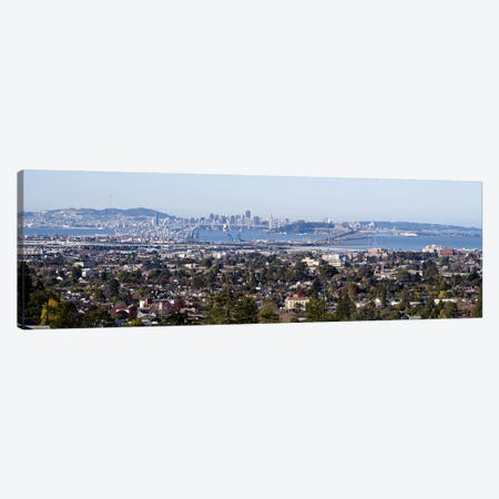 Buildings in a cityOakland, San Francisco Bay, San Francisco, California, USA Canvas Print #PIM10152} by Panoramic Images Canvas Art