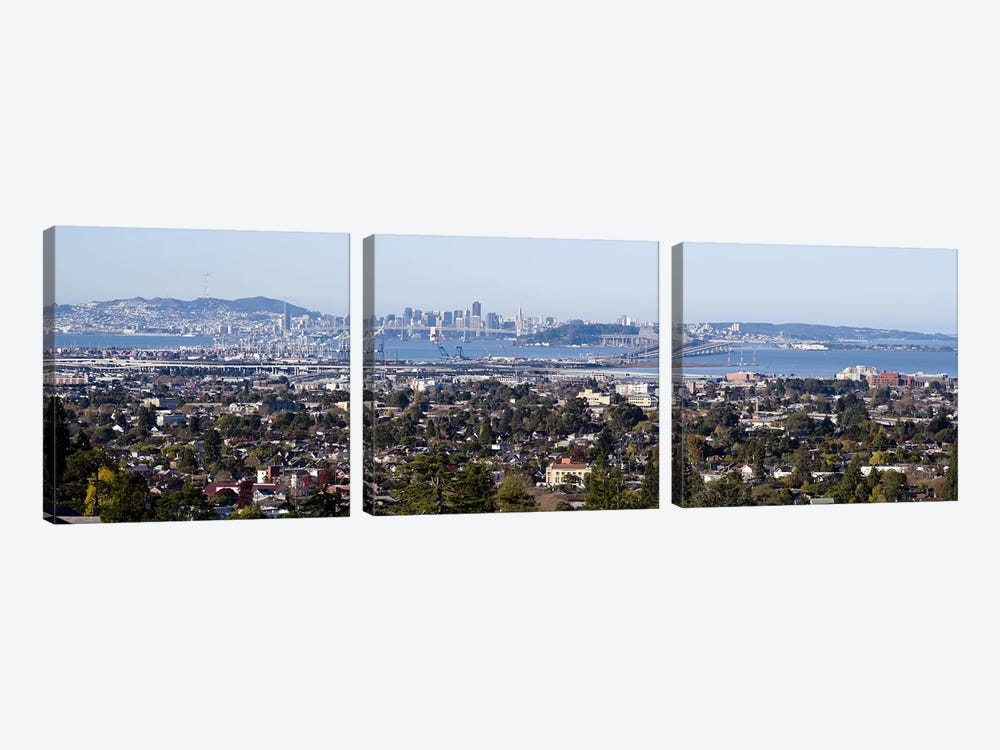 Buildings in a cityOakland, San Francisco Bay, San Francisco, California, USA 3-piece Canvas Wall Art