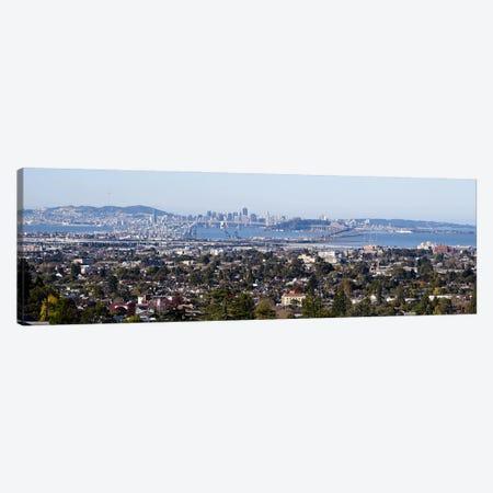 Buildings in a cityOakland, San Francisco Bay, San Francisco, California, USA Canvas Print #PIM10152} by Panoramic Images Canvas Art