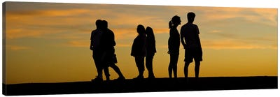 Silhouette of people on a hill, Baldwin Hills Scenic Overlook, Los Angeles County, California, USA Canvas Print #PIM10153