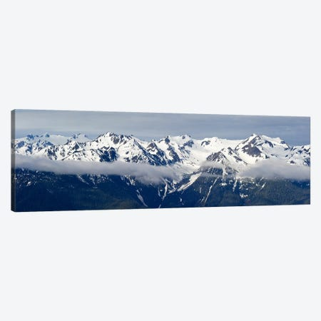 Snow covered mountains, Hurricane Ridge, Olympic National Park, Washington State, USA Canvas Print #PIM10154} by Panoramic Images Art Print