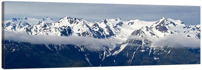 Snow covered mountains, Hurricane Ridge, Olympic National Park, Washington State, USA Canvas Art Print