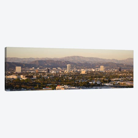 Buildings in a city, Miracle Mile, Hayden Tract, Hollywood, Griffith Park Observatory, Los Angeles, California, USA Canvas Print #PIM10155} by Panoramic Images Art Print