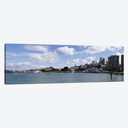 View Of Aquatic Park, Fisherman's Wharf District, San Francisco, California, USA Canvas Print #PIM10164} by Panoramic Images Canvas Artwork