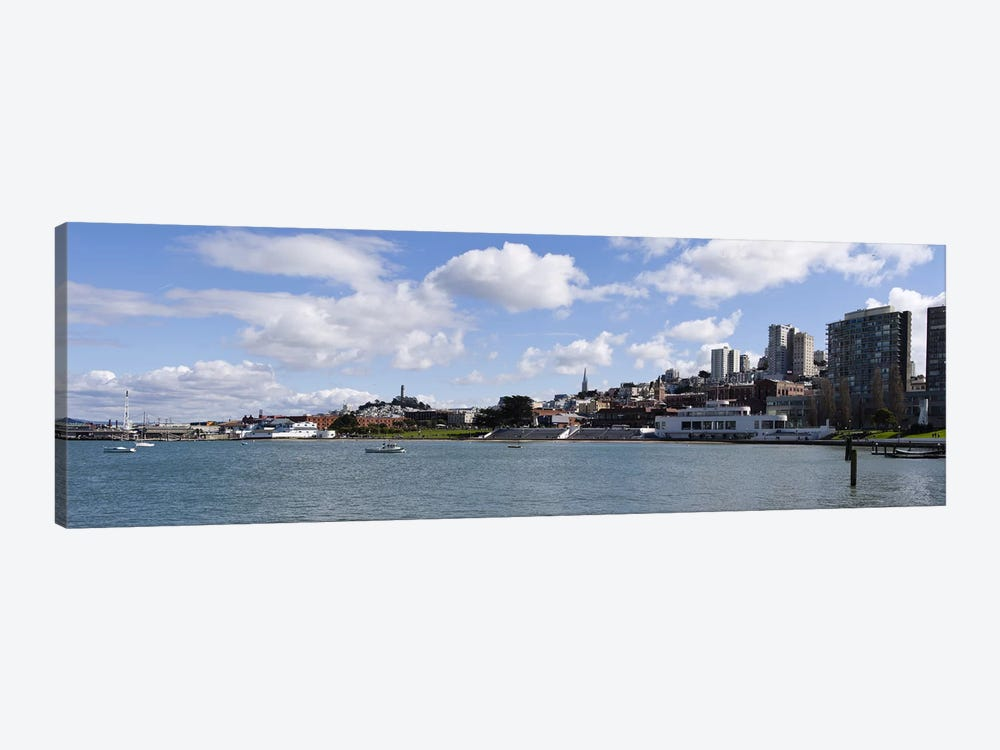 View Of Aquatic Park, Fisherman's Wharf District, San Francisco, California, USA by Panoramic Images 1-piece Art Print