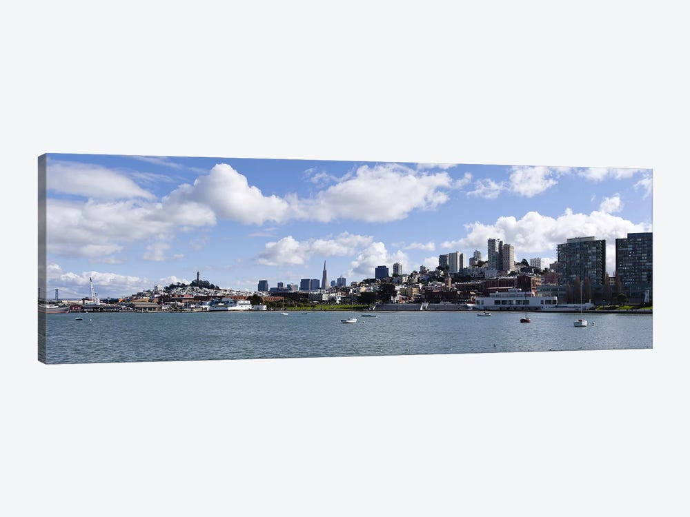 Distant View Of The Financial District With The Fisherman's Wharf District In The Foreground, San Francisco, California by Panoramic Images 1-piece Art Print