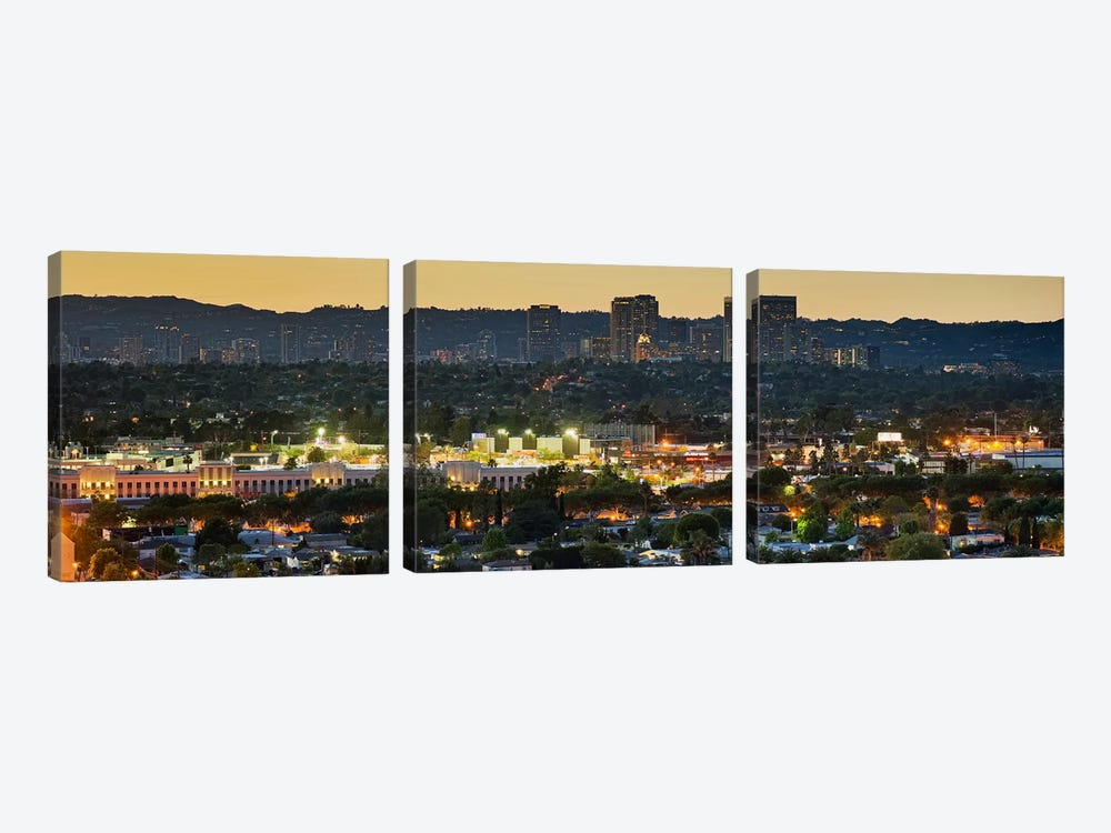 Century City, Culver City, Los Angeles County, California, USA by Panoramic Images 3-piece Canvas Artwork