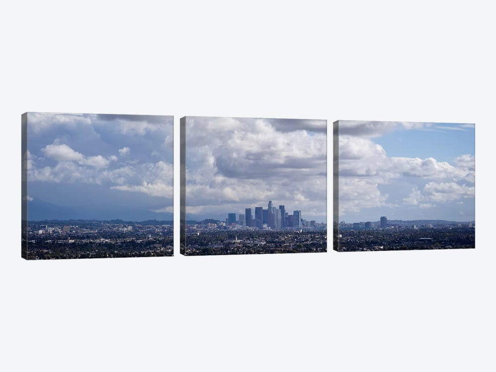 Buildings in a city, Los Angeles, California, USA by Panoramic Images 3-piece Canvas Art Print