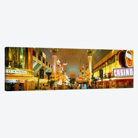 USA, Nevada, Las Vegas, night Canvas Print #PIM1017} by Panoramic Images Art Print
