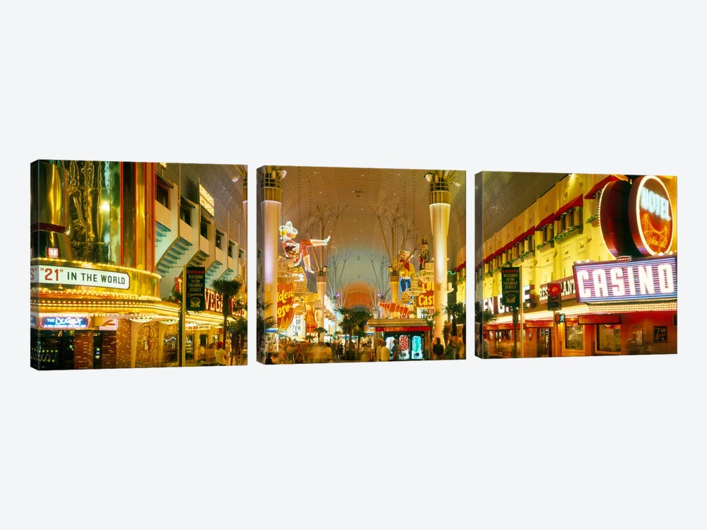 USA, Nevada, Las Vegas, night 3-piece Canvas Art