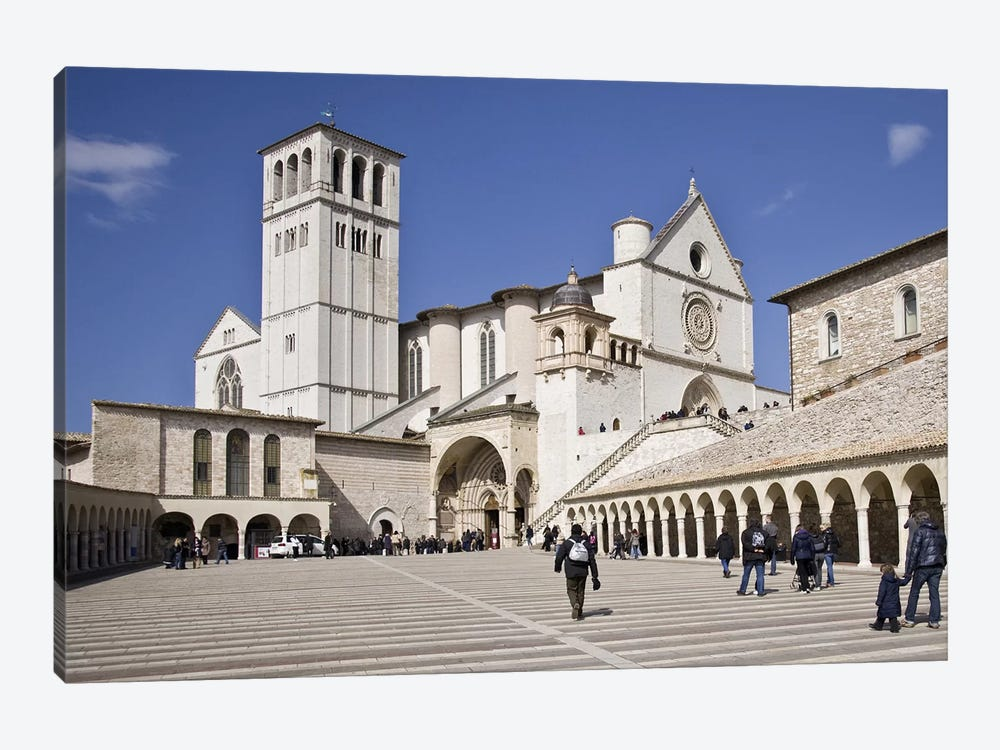 Tourists at a church, Basilica of San Francesco D'Assisi, Assisi, Perugia Province, Umbria, Italy by Panoramic Images 1-piece Art Print