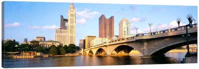 Scioto River, Columbus, Ohio, USA Canvas Art Print