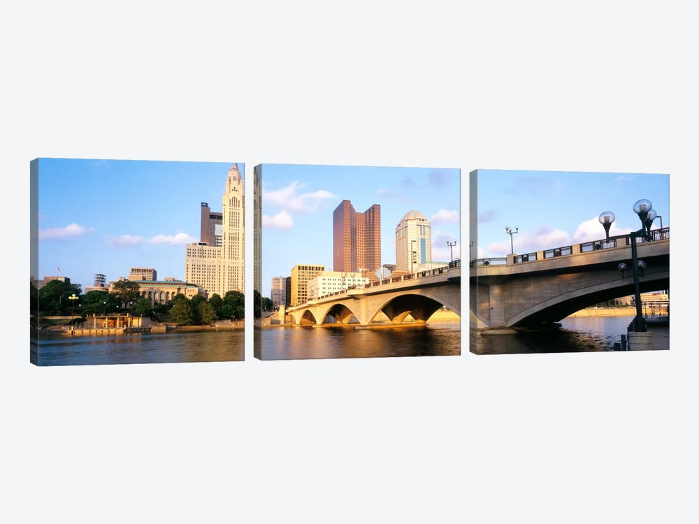 Scioto River, Columbus, Ohio, USA by Panoramic Images 3-piece Art Print