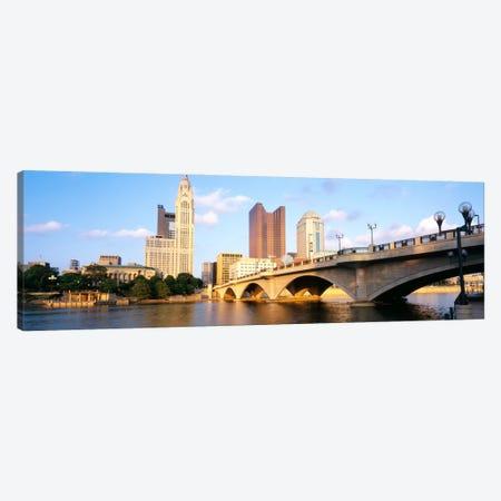 Scioto River, Columbus, Ohio, USA Canvas Print #PIM1018} by Panoramic Images Canvas Art