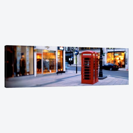 Phone Booth, London, England, United Kingdom Canvas Print #PIM1020} by Panoramic Images Art Print