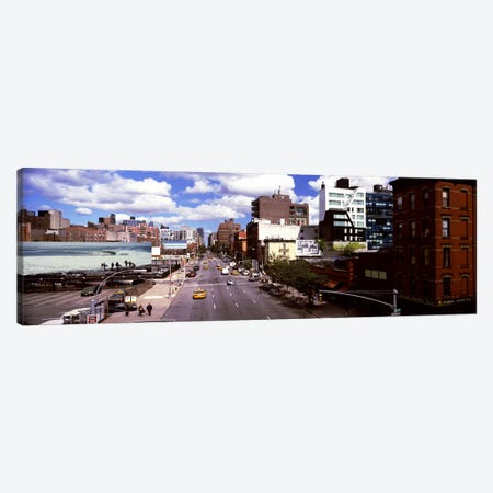 High angle view of buildings along 10th Avenue, New York City, New York State, USA Canvas Print #PIM10214} by Panoramic Images Canvas Artwork