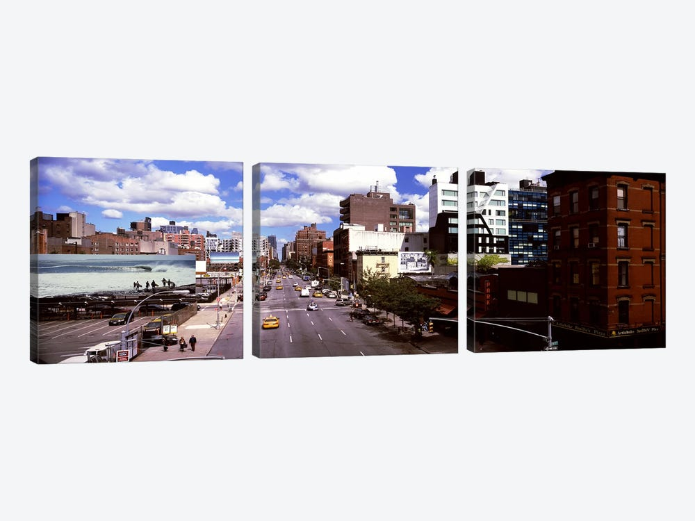 High angle view of buildings along 10th Avenue, New York City, New York State, USA by Panoramic Images 3-piece Canvas Art