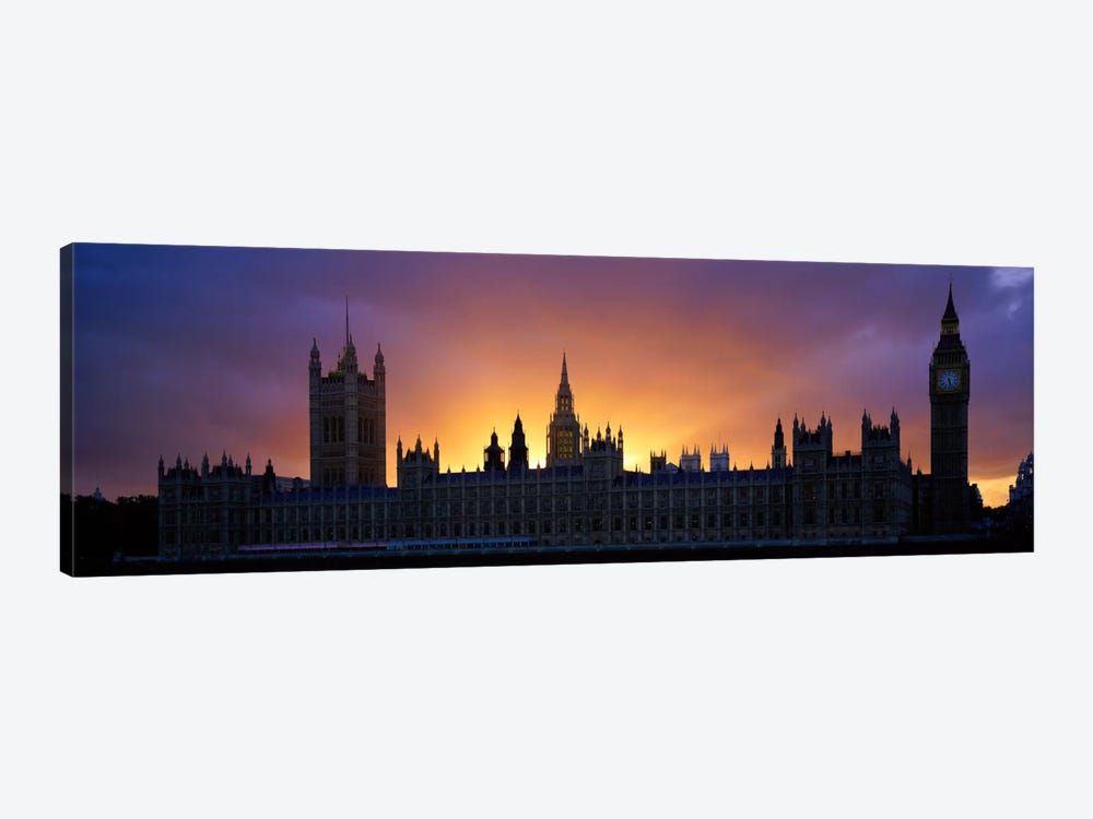 Sunset Houses of Parliament & Big Ben London England by Panoramic Images 1-piece Canvas Print