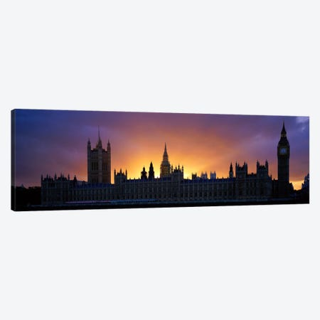 Sunset Houses of Parliament & Big Ben London England Canvas Print #PIM1021} by Panoramic Images Art Print